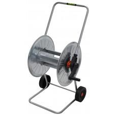 Enrolador de Mangueira Aço Zincado com Rodas 50m