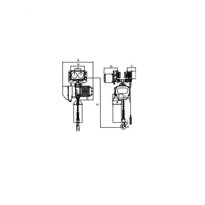 Guinchos Elétricos de Corrente + Carro Elétrico