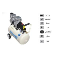Compressor de Ar Silencioso 24L 1.0HP-ED-230105
