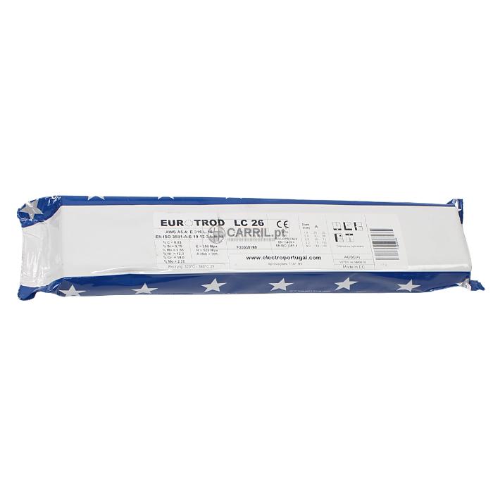 Eléctrodo Inox, 2.5x300mm, 100Un