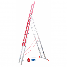 Escada Fibra F66-3x11-Alumínio+Fibra Vidro-A11513030