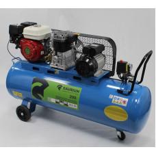 Compressor 200l C/Correia 2 em 1 Eléctrico e Gasolina Saurium