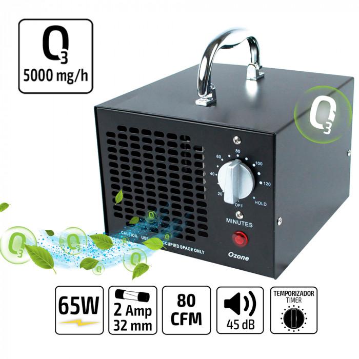 Gerador de Ozonio Portátil L 5000 MG/H (220V)