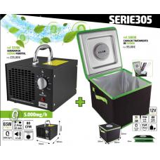 Gerador de Ozónio Portátil + Caixa de Esterilização SERIE305