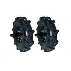 Roda Pneumática c/ Rasto de Trator 4.00-8 (Eixos Fixos 23mm)